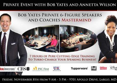 Speaker Academy Mastermind with Bob and Annetta Banner-Nov2019